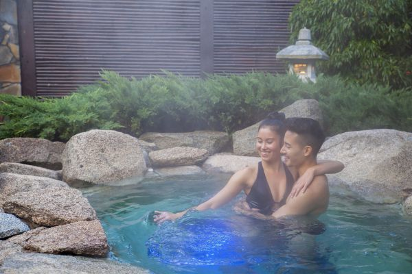 Japanese Mountain Retreat Mineral Springs  Spa