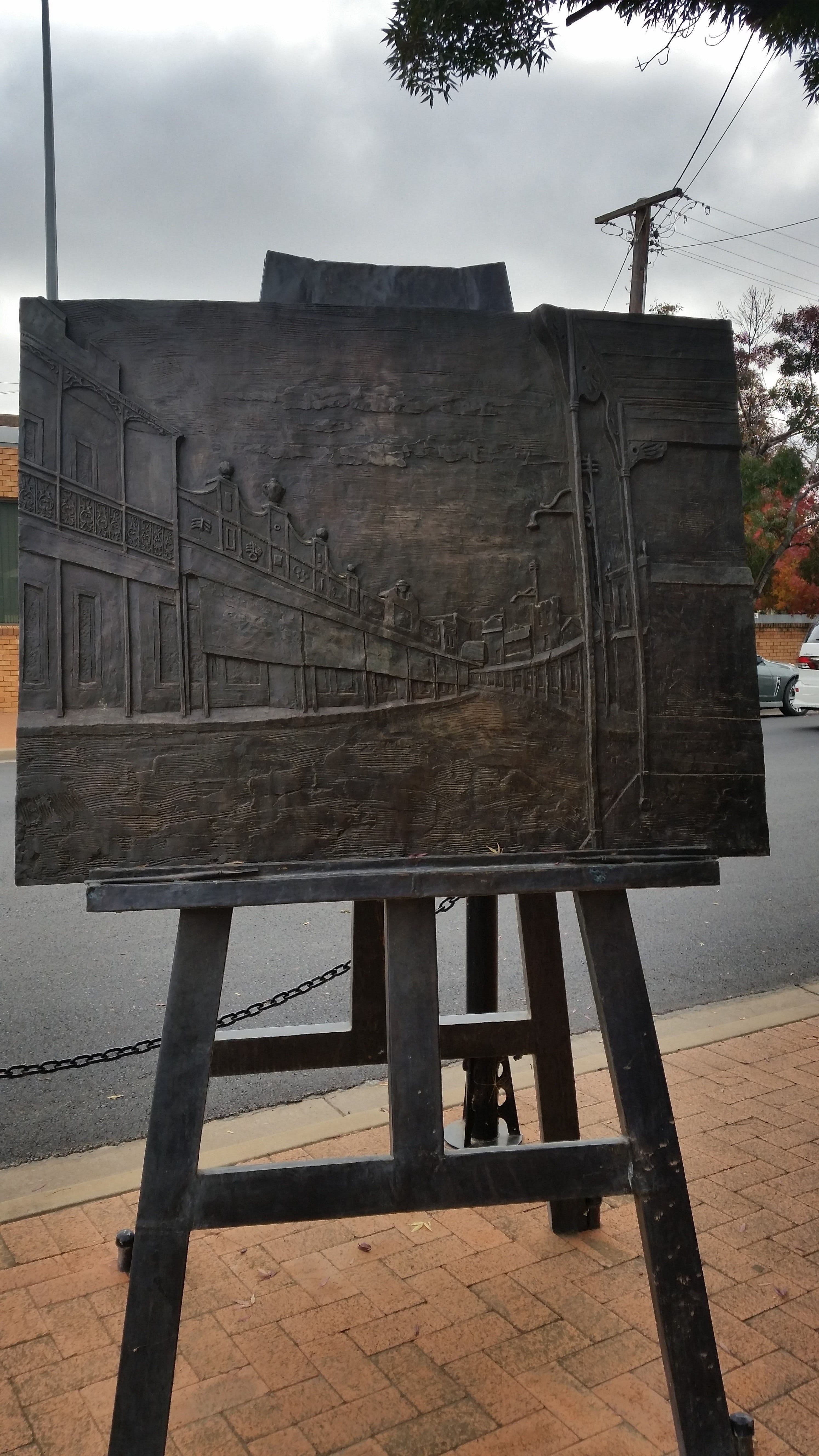 Russell Drysdale Easel Sculpture - Melbourne Tourism