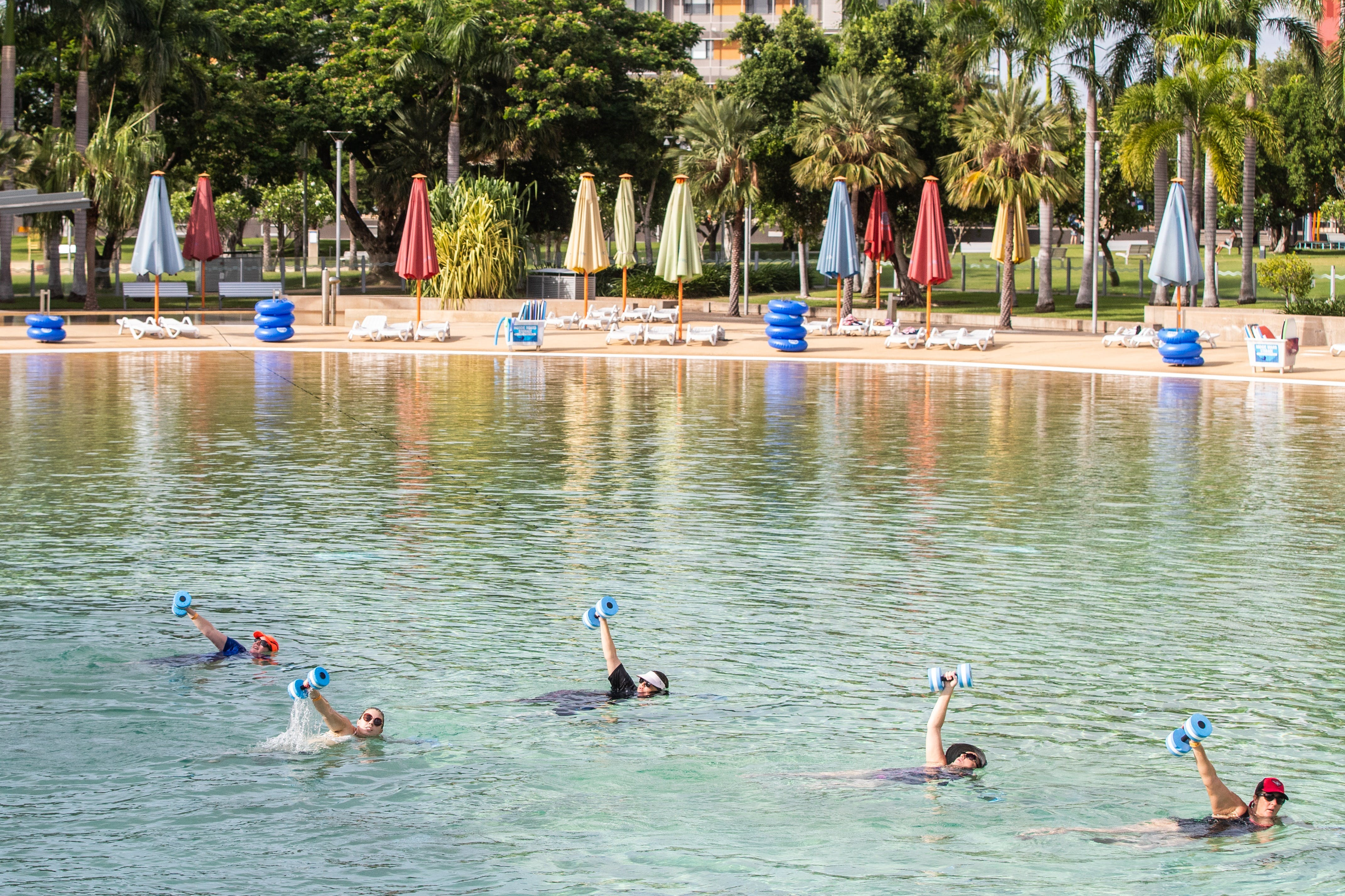 Aqua fitness in the Wave Lagoon - Melbourne Tourism